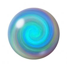 Cabochon en Verre Spirale Tourbillon Coloré 12 à 25mm pour la Création de Bijoux Fantaisie - DIY
