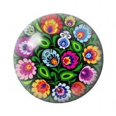Cabochon en Verre Illustré Fleurs 12 à 25mm pour la Création de Bijoux Fantaisie - DIY