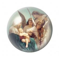 Cabochon en Verre Illustré Ange 12 à 25mm pour la Création de Bijoux Fantaisie - DIY