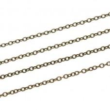 1 Mètre de Chaine Fine Bronze 1,8mm pour la Création de Bijoux Fantaisie - DIY