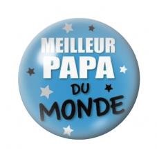 """Cabochon en Verre Illustré """"Meilleur Papa du Monde"""" 12 à 25mm pour la Création de Bijoux Fantaisie - DIY"""