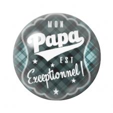 """Cabochon en Verre Illustré """"Mon Papa est Exceptionnel"""" 12 à 25mm pour la Création de Bijoux Fantaisie - DIY"""