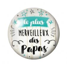 """Cabochon en Verre Illustré """"Le plus Merveilleux des Papas"""" 12 à 25mm pour la Création de Bijoux Fantaisie - DIY"""