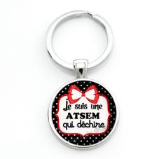 """Porte-clé """"Je suis une Atsem qui Déchire"""" Cadeau de Fin d'Année d'École pour la Création de Bijoux Fantaisie - DIY"""