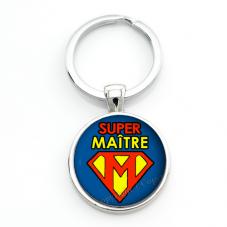 """Porte-clé """"Super Maître"""" Cadeau de Fin d'Année d'École pour la Création de Bijoux Fantaisie - DIY"""