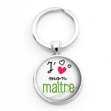 """Porte-Clé """"J'aime mon Maître"""" Cadeau de Fin d'Année d'École pour la Création de Bijoux Fantaisie - DIY"""