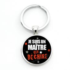 """Porte-clé """"Maître qui Déchire"""" Cadeau de Fin d'Année d'École pour la Création de Bijoux Fantaisie - DIY"""