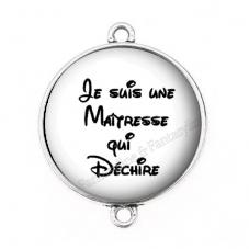 """Connecteur Cabochon en Résine """"Maîtresse qui Déchire"""" 25mm pour la Création de Bijoux Fantaisie - DIY"""