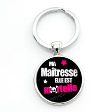 """Porte-clé """"Maîtresse Mortelle"""" Cadeau de Fin d'Année d'École pour la Création de Bijoux Fantaisie - DIY"""