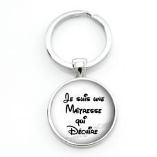 """Porte-clé """"Maîtresse qui Déchire"""" Cadeau de Fin d'Année d'École pour la Création de Bijoux Fantaisie - DIY"""