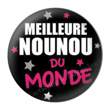 """Cabochon en Résine à Coller """"Meilleure Nounou du Monde"""" 25mm pour la Création de Bijoux Fantaisie - DIY"""