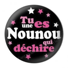 """Cabochon en Résine à Coller """"Nounou qui Déchire"""" 25mm pour la Création de Bijoux Fantaisie - DIY"""