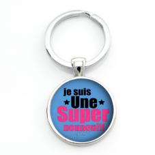 """Porte-clé """"Super Nounou"""" Cadeau de Fin d'Année d'École pour la Création de Bijoux Fantaisie - DIY"""