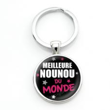 """Porte-clé """"Meilleure Nounou du Monde"""" Cadeau de Fin d'Année d'École pour la Création de Bijoux Fantaisie - DIY"""