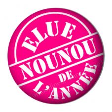 """Cabochon en Résine à Coller """"Elue Nounou de l'Année"""" 25mm pour la Création de Bijoux Fantaisie - DIY"""