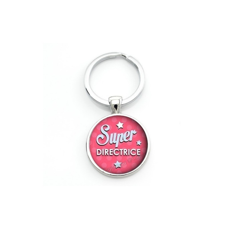 """Porte-clé """"Super Directrice"""" Cadeau de Fin d'Année d'École"""