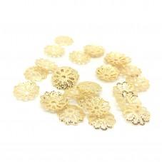 20 Coupelles Calottes pour Perles Doré 6x1,5mm pour la Création de Bijoux Fantaisie - DIY