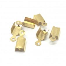 20 Embouts Attaches pour Cordon Doré 13x5mm pour la Création de Bijoux Fantaisie - DIY