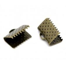 20 Embouts Pinces Griffes Attaches pour Ruban Bronze 10mm pour la Création de Bijoux Fantaisie - DIY