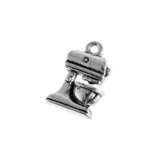 4 Breloques Robot Bol Mixeur Cuisine Argenté 20x16mm pour la Création de Bijoux Fantaisie - DIY