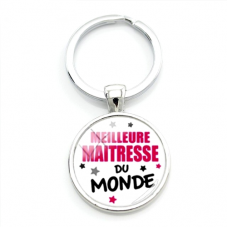 """Porte-clé """"Meilleure Maîtresse du Monde"""" Cadeau de Fin d'Année d'École"""