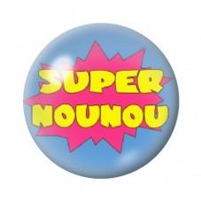 """Cabochon en Verre Illustré """"Super Nounou"""" 12 à 25mm pour la Création de Bijoux Fantaisie - DIY"""