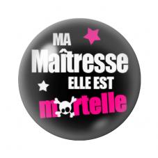 """Cabochon en Verre Illustré """"Maîtresse Mortelle"""" 12 à 25mm pour la Création de Bijoux Fantaisie - DIY"""