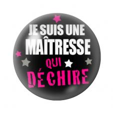 """Cabochon en Verre Illustré """"Maîtresse qui Déchire"""" 12 à 25mm pour la Création de Bijoux Fantaisie - DIY"""