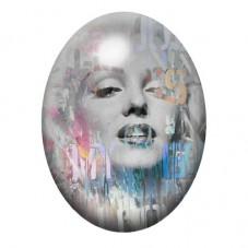 Cabochon en Verre Illustré Marilyn Monroe 13x18, 18x25 ou 30x40mm pour la Création de Bijoux Fantaisie - DIY