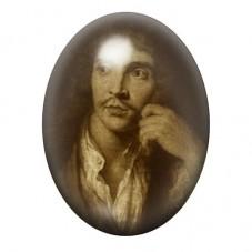 Cabochon en Verre Illustré  Molière Comédien 13x18, 18x25 ou 30x40mm pour la Création de Bijoux Fantaisie - DIY