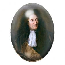 Cabochon en Verre Illustré  Jean de la Fontaine Poète 13x18, 18x25 ou 30x40mm pour la Création de Bijoux Fantaisie - DIY
