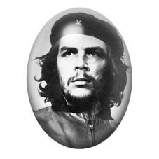 Cabochon en Verre Illustré  Che Guevara Révolutionnaire 13x18, 18x25 ou 30x40mm pour la Création de Bijoux Fantaisie - DIY