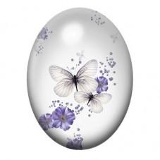Cabochon en Verre Illustré Papillons 13x18, 18x25 ou 30x40mm pour la Création de Bijoux Fantaisie - DIY