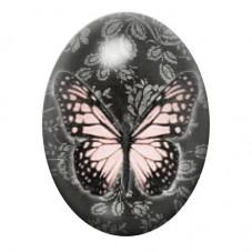 Cabochon en Verre Illustré Papillon 13x18, 18x25 ou 30x40mm pour la Création de Bijoux Fantaisie - DIY