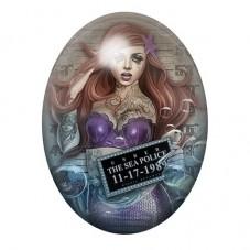 Cabochon en Verre Illustré Ariel Coupable Gothique 13x18, 18x25 ou 30x40mm pour la Création de Bijoux Fantaisie - DIY