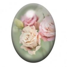 Cabochon en Verre Illustré Fleurs Roses 13x18, 18x25 ou 30x40mm pour la Création de Bijoux Fantaisie - DIY