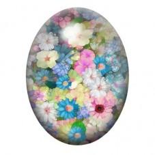 Cabochon en Verre Illustré Fleurs 13x18, 18x25 ou 30x40mm pour la Création de Bijoux Fantaisie - DIY