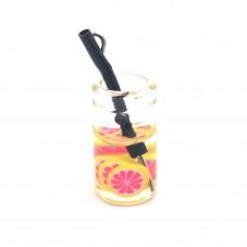 Breloque Verre Cocktail Pamplemousse 10x18mm  pour la Création de Bijoux Fantaisie - DIY