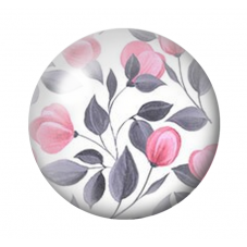 Cabochon en Verre Illustré Fleurs 12 ou 20mm pour la Création de Bijoux Fantaisie - DIY