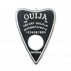 Grande Breloque Ouija en Résine Gothique 60x42mm  pour la Création de Bijoux Fantaisie - DIY