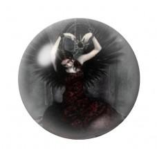 Cabochon en Verre Illustré Ange Gothique 12 à 25mm pour la Création de Bijoux Fantaisie - DIY