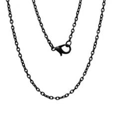Collier Chaîne à Maille Noire 3x2mm - 50cm de Longueur pour la Création de Bijoux Fantaisie - DIY