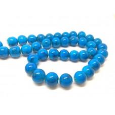 10 Perles en Verre Bleu 10mm pour la Création de Bijoux Fantaisie - DIY