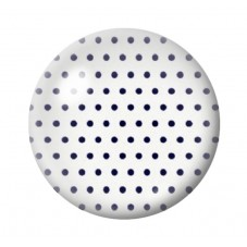 Cabochon en Verre Illustré Blanc à Pois Noir 12 à 25mm pour la Création de Bijoux Fantaisie - DIY