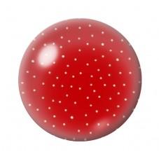Cabochon en Verre Illustré Rouge à Pois Blanc 12 à 25mm pour la Création de Bijoux Fantaisie - DIY