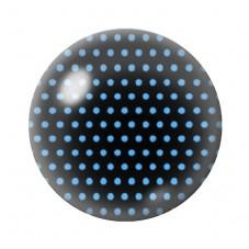 Cabochon en Verre Illustré Bleu à Pois Bleu 12 à 25mm pour la Création de Bijoux Fantaisie - DIY
