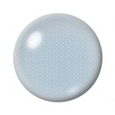 Cabochon en Verre Illustré Bleu Gris à Pois Blanc 12 à 25mm pour la Création de Bijoux Fantaisie - DIY