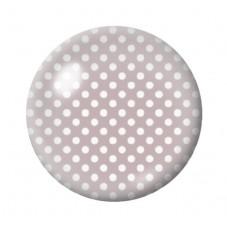 Cabochon en Verre Illustré Taupe à Pois Blanc 12 à 25mm pour la Création de Bijoux Fantaisie - DIY