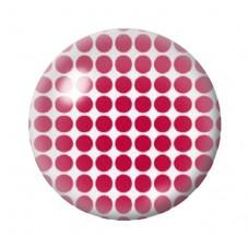 Cabochon en Verre Illustré Blanc à Pois Rouge 12 à 25mm pour la Création de Bijoux Fantaisie - DIY