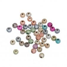 1000 Perles en Acrylique Effet Paillettes 4mm  pour la Création de Bijoux Fantaisie - DIY